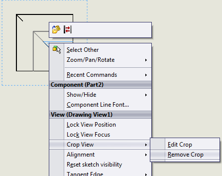 SolidWorks tutorial - cropping a drawing view - Jensen Consulting
