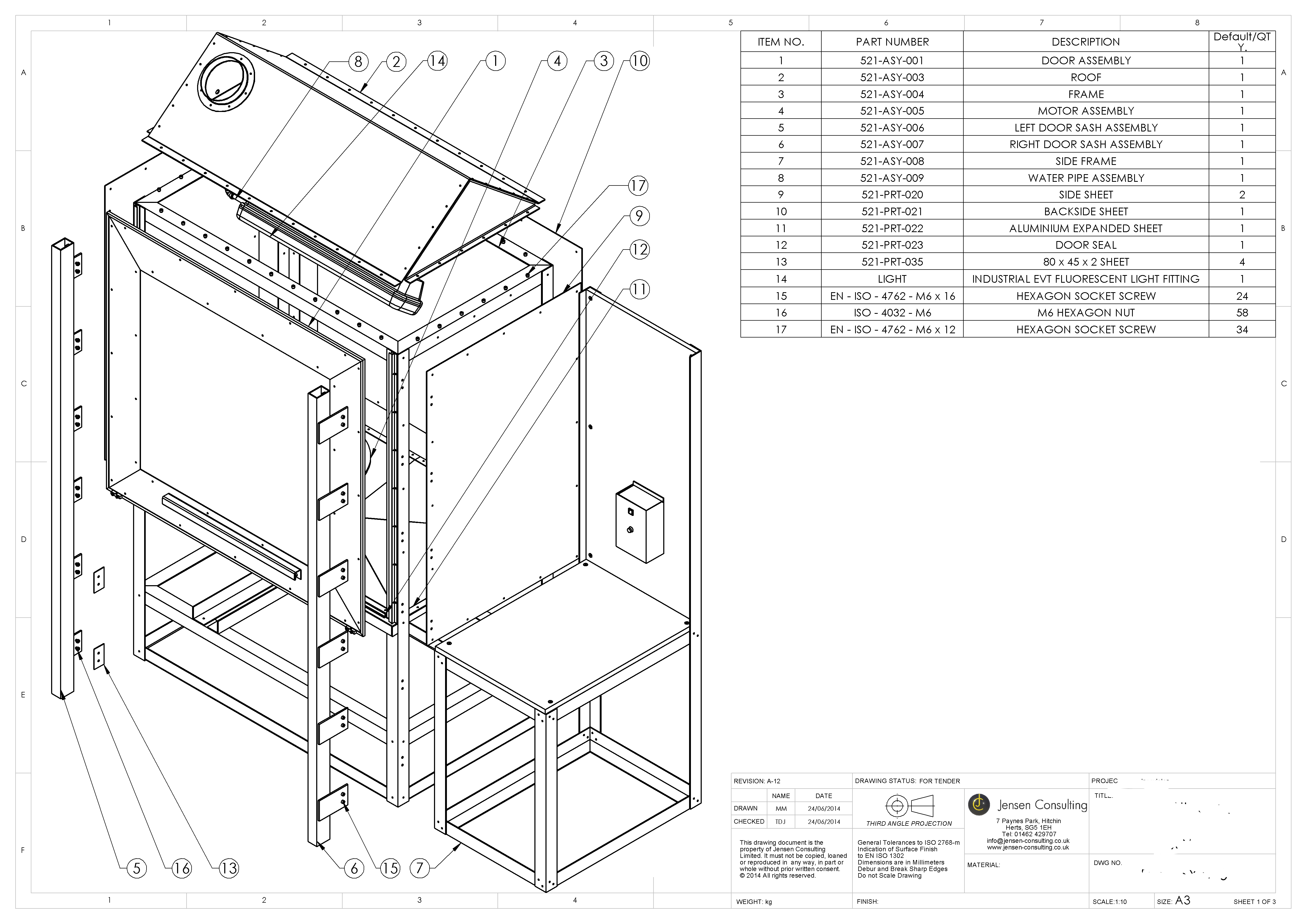 Manufacturing Drawings from existing product