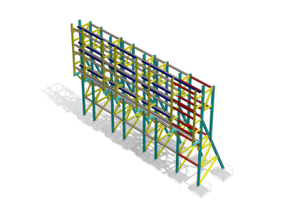 Raking Shore Structural Steel Fabrication Drawings