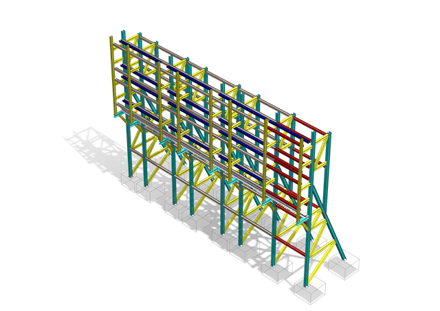 Raking Shore Structural Steel Fabrication Drawings