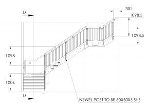 General Assembly Drawing - Steel Detailing - Stair Case
