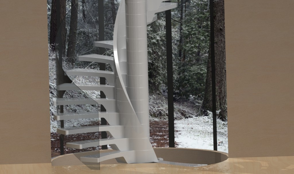 Staircase Render – a Photo Realistic Image for concept