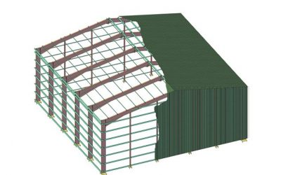 Case Study – Portal Frame Drawings (Structural Steel)