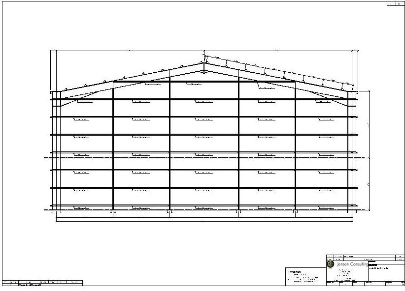 Case Study - Portal Frame Drawings (Structural Steel) - Jensen Consulting