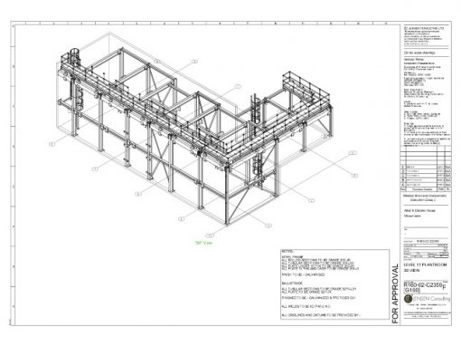 Structural Steel – General Assembly Drawing – 3D View