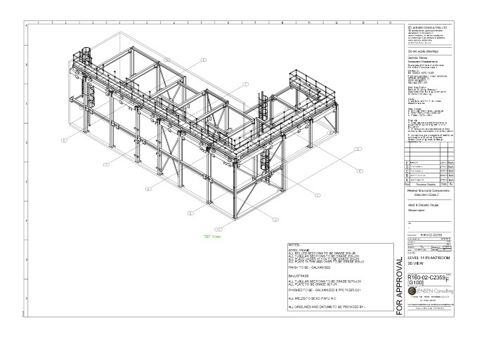 Structural Steel General Assembly Drawing 3d View