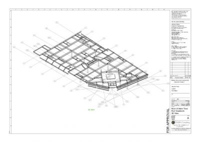 Structural Steel – General Assembly – Roof 3D View