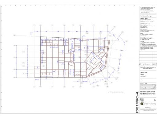 Structural Steel – General Assembly Drawing – Roof Layout