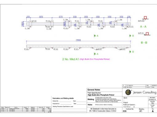 Structural Steel – Assembly Drawing