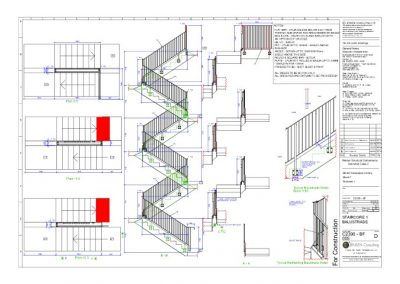 Staircase Balustrade – General Assembly Drawing