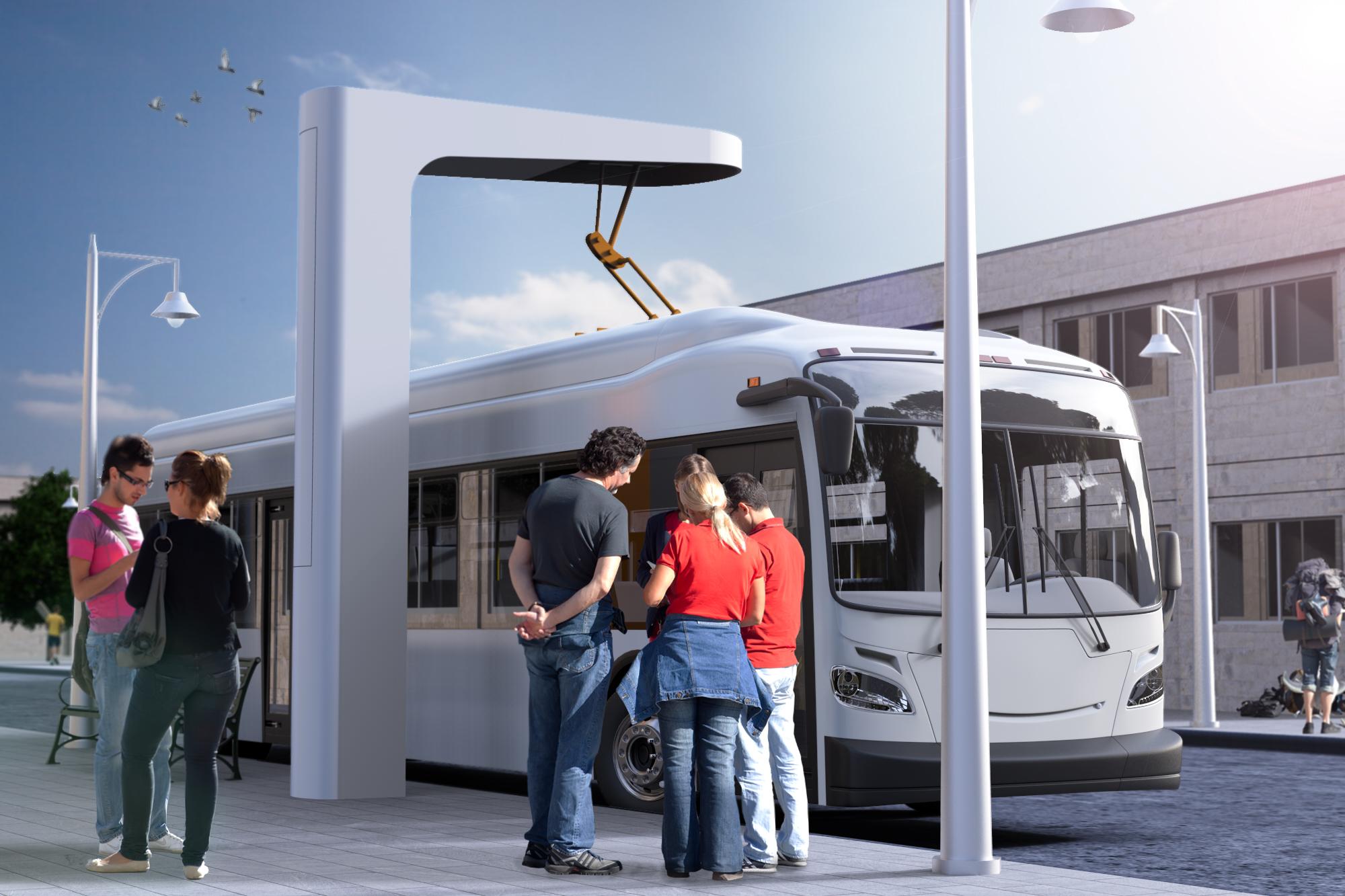Bus 3D Render