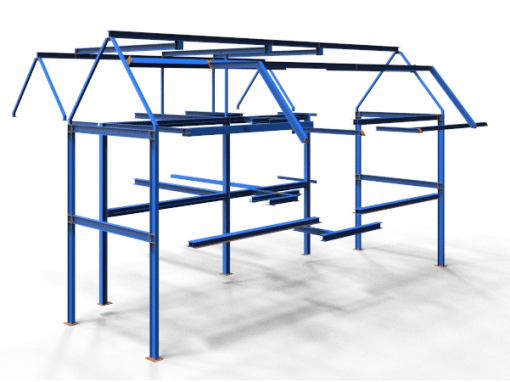 Full set of structural steel fabrication drawings for a residential house
