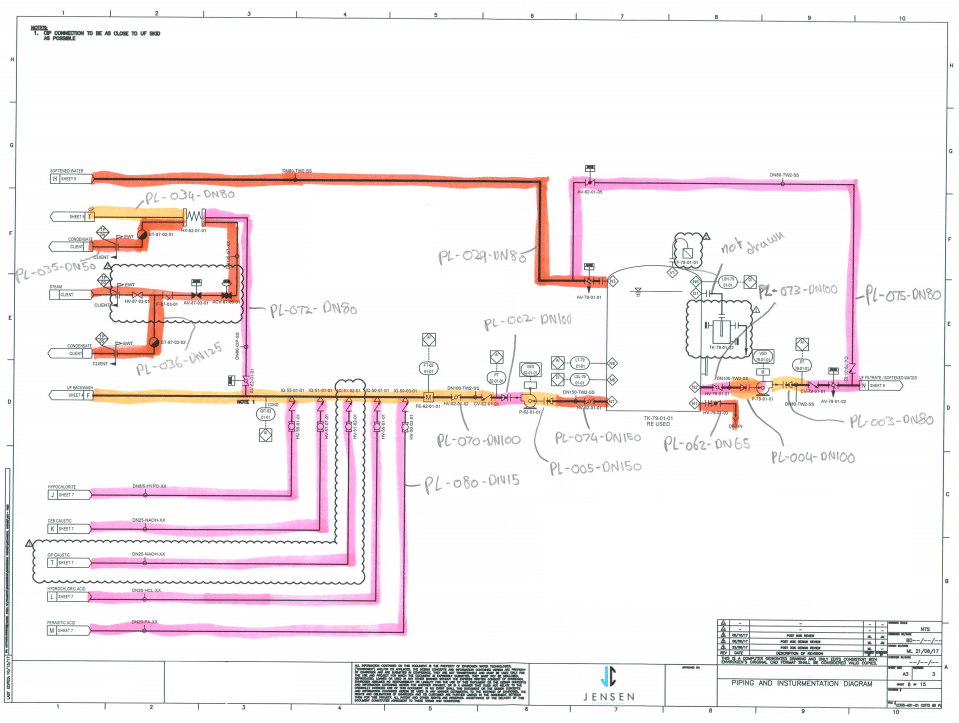 Schematic Drawings | Technical Line Drawings | 2D Drafting