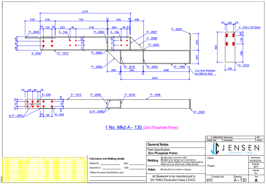 Assembly Drawing - Structural Steel - Steel Detailing