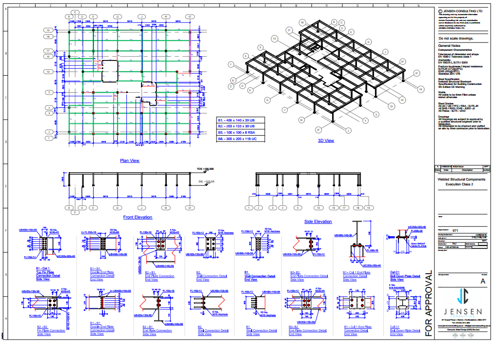 General Assembly Drawing - Structural Steel - Steel Detailing