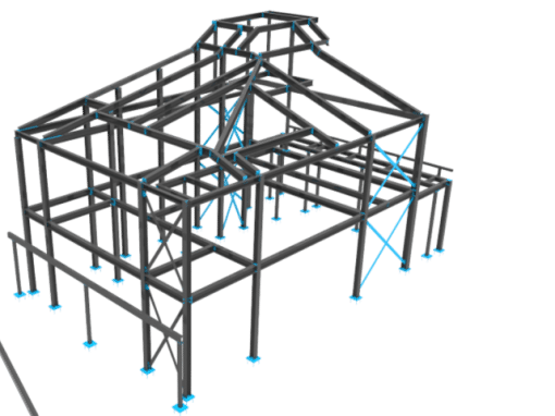 Structural Frame of a residential house
