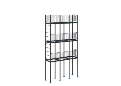 Balconies stack steel detailing